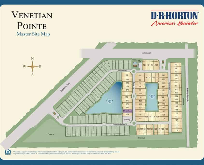 Venetian Pointe Site Plan 33908