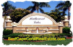 Heatherwood Lakes Homes Cape Coral FL