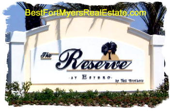 Reserve at Estero gated homes